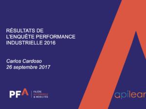 Présentation de l'enquête de performance Industrielle de la filière automobile (PFA) par Carlos Cardoso